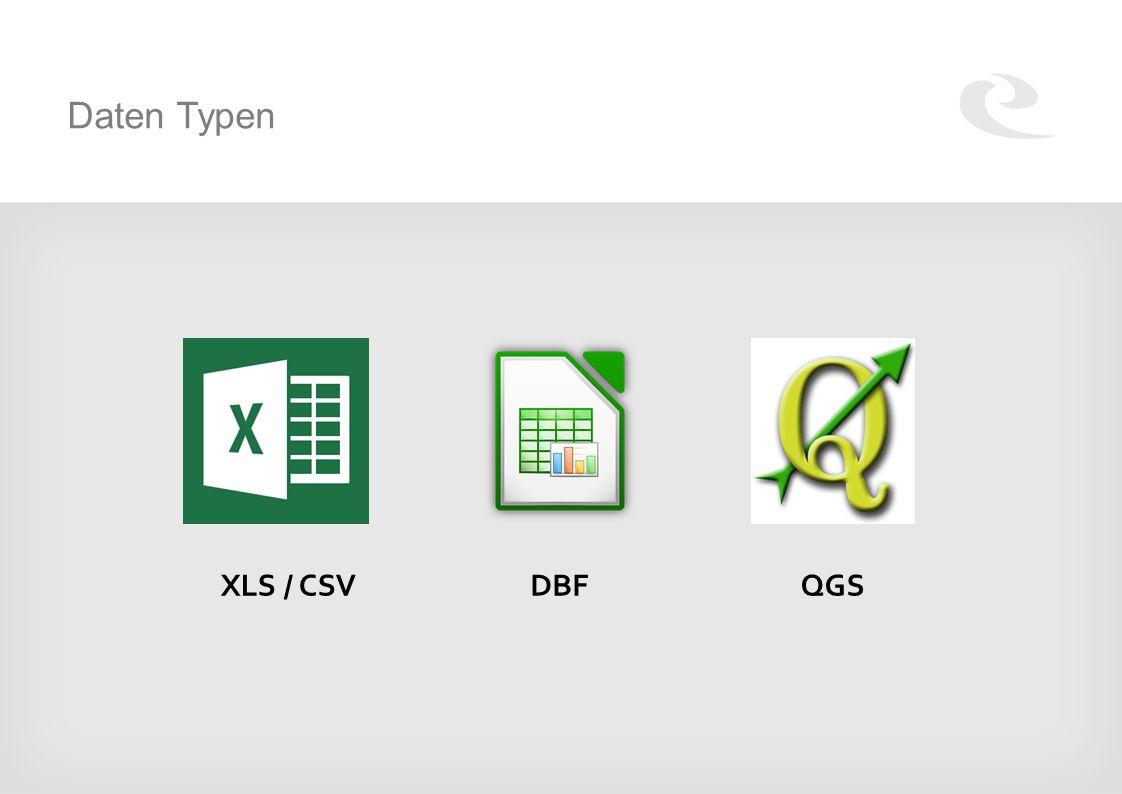 Daten Typen XLS / CSVDBFQGS