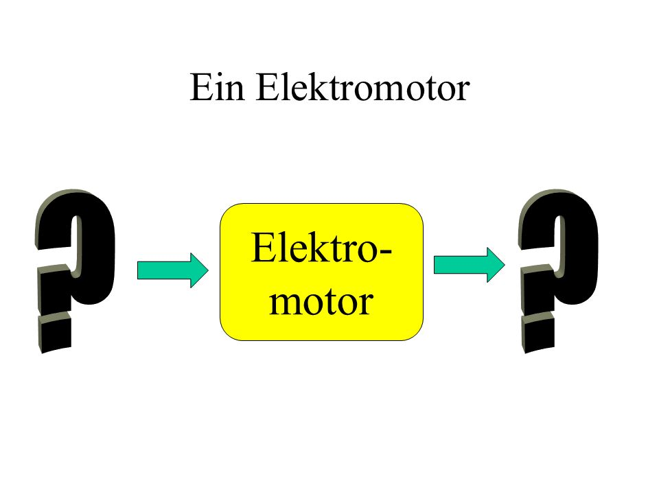 Ein Elektromotor Elektro- motor