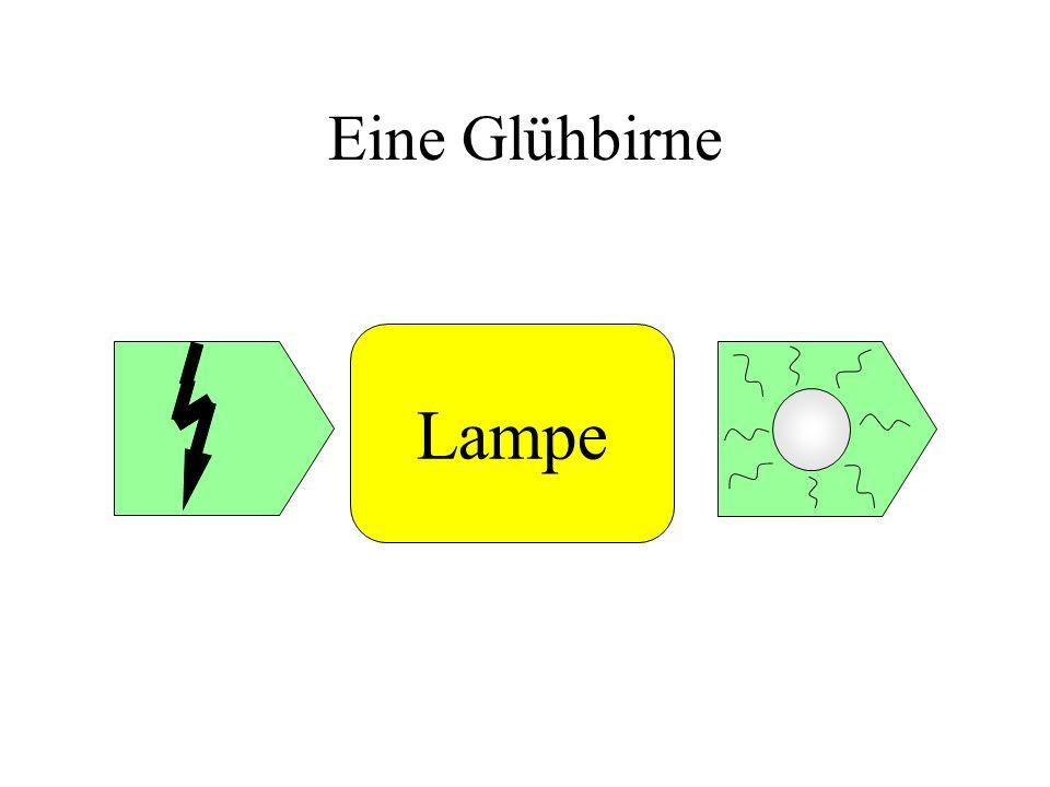 Eine Glühbirne Lampe