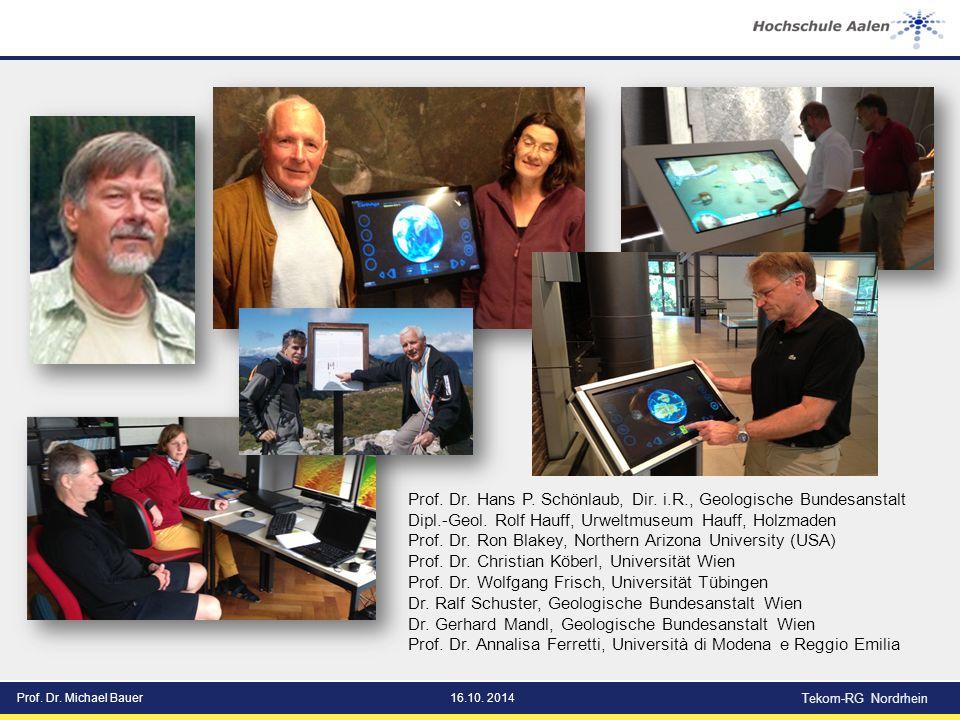 Prof. Dr. Michael Bauer16.10. 2014 Tekom-RG Nordrhein Prof.