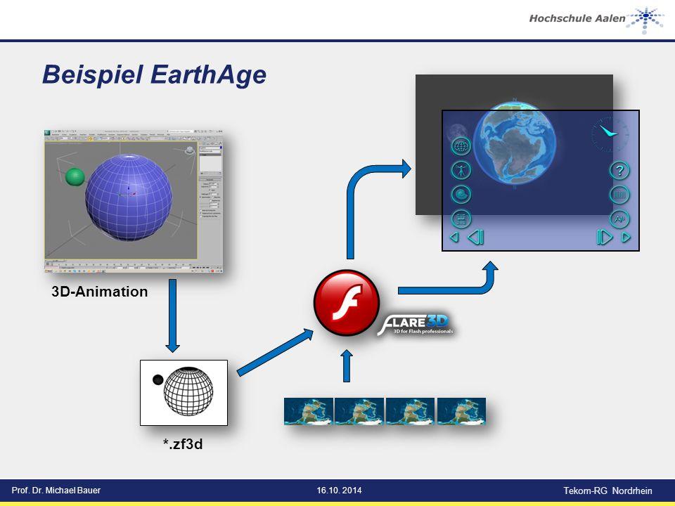 Prof. Dr. Michael Bauer16.10. 2014 Tekom-RG Nordrhein Beispiel EarthAge 3D-Animation *.zf3d
