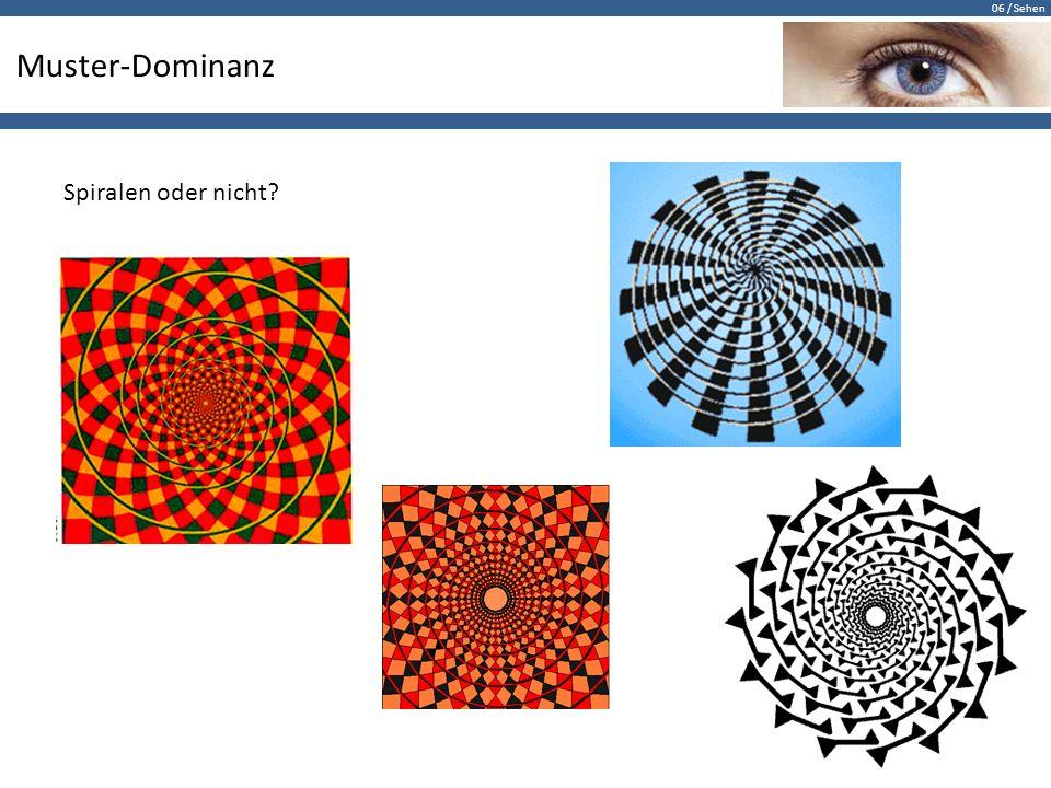 06 / Sehen Muster-Dominanz Spiralen oder nicht?