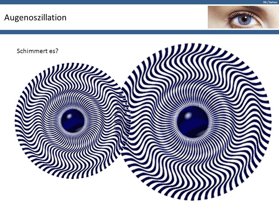 06 / Sehen Augenoszillation Schimmert es?