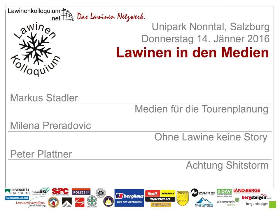 Markus Stadler Medien für die Tourenplanung Buchautor, Tourenführer und Ausbildner beim DAV Titelfolie Zenke Fotograf www.stadler-markus.de
