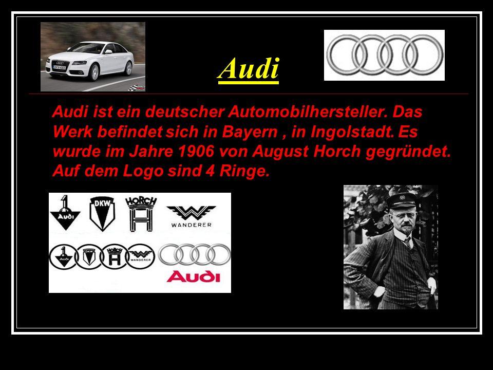 Mercedes Mercedes hat 3 Gründer: Karl Benz, Gottlieb Daimler, Wilhelm Maybach.