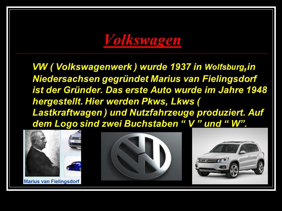 Die 2.Gruppe : Porsche Die 1. Aufgabe p Lest folgende kleine Texte.