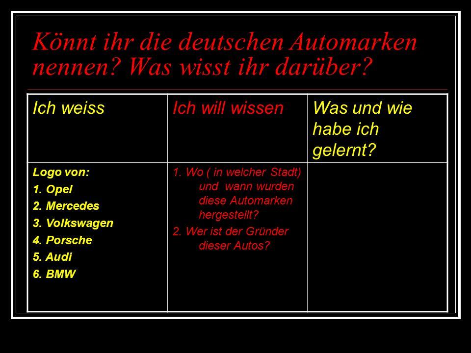 Deutsche Autos BMWPorscheMercedesAudi