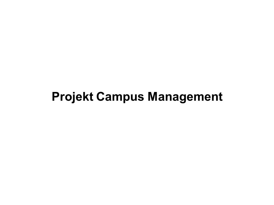 Projekt Campus Management