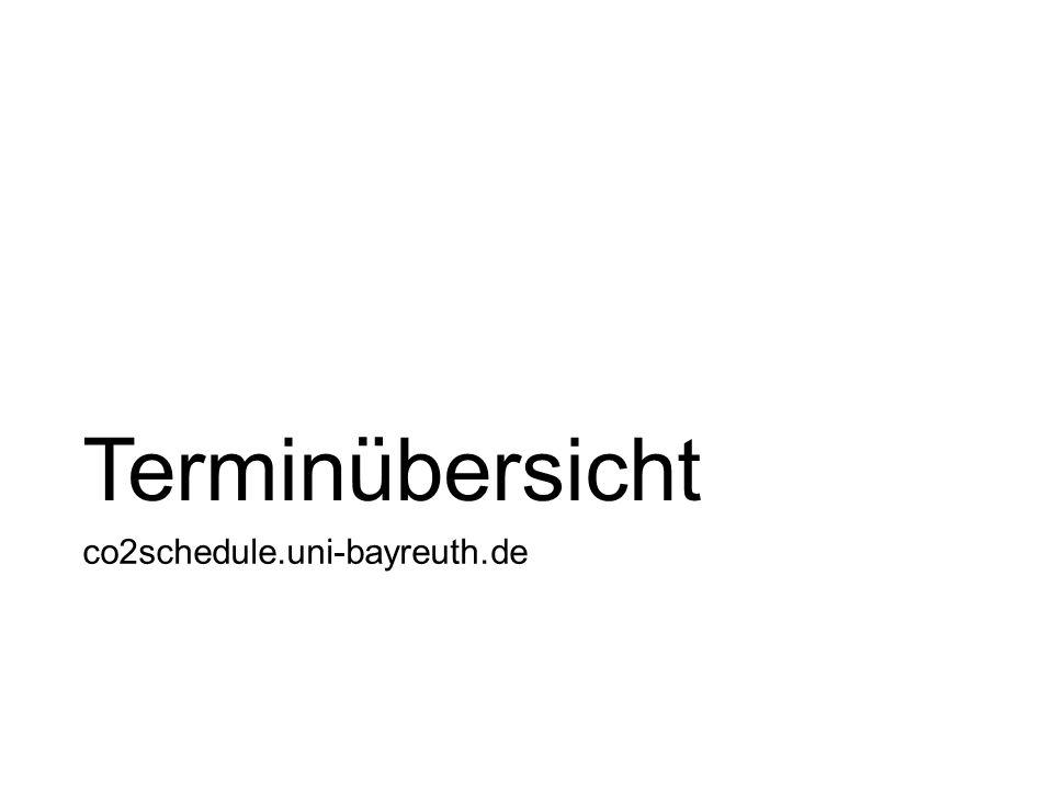 Terminübersicht co2schedule.uni-bayreuth.de
