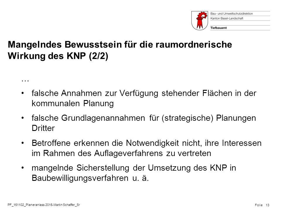 PF_151102_Planeranlass 2015-Martin Schaffer_Sr Folie Mangelndes Bewusstsein für die raumordnerische Wirkung des KNP (2/2) … falsche Annahmen zur Verfü