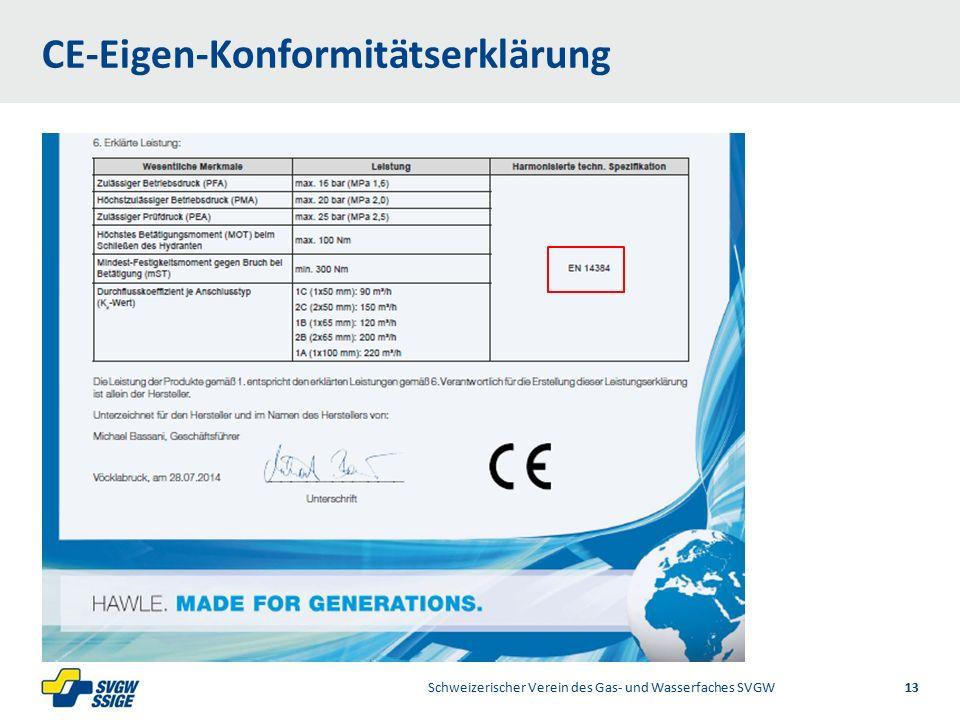 1/2Right11.60Left 11.601/2 7.60 Placeholder 6.00 6.80 Placeholder title Placeholder Top 9.20 Bottom 9.20 Center 0.80 CE-Eigen-Konformitätserklärung Schweizerischer Verein des Gas- und Wasserfaches SVGW 13