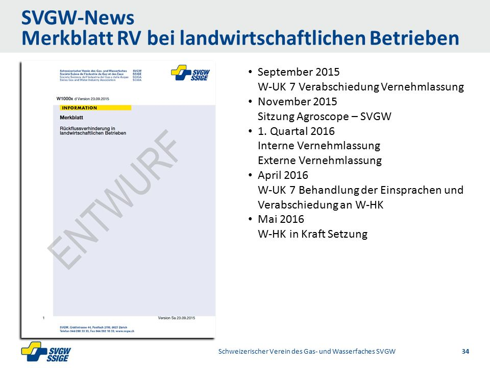 1/2Right11.60Left 11.601/2 7.60 Placeholder 6.00 6.80 Placeholder title Placeholder Top 9.20 Bottom 9.20 Center 0.80 SVGW-News Merkblatt RV bei landwi
