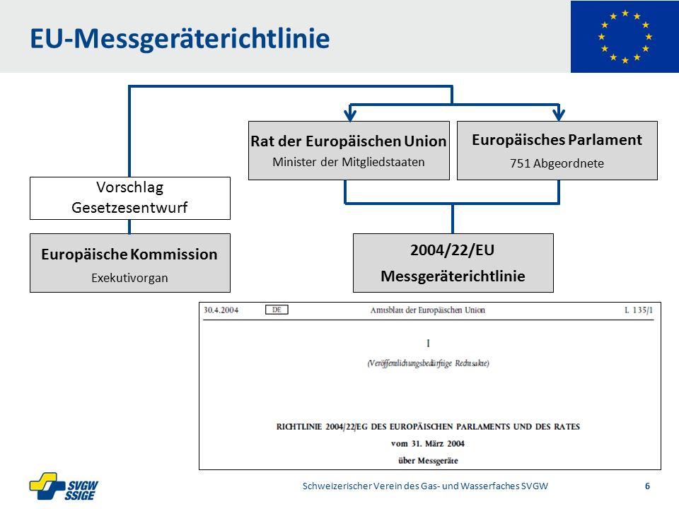 1/2Right11.60Left 11.601/2 7.60 Placeholder 6.00 6.80 Placeholder title Placeholder Top 9.20 Bottom 9.20 Center 0.80 EU-Bauprodukteverordnung Schweizerischer Verein des Gas- und Wasserfaches SVGW 7 EU 305/2011 Bauprodukteverordnung Europäisches Parlament 751 Abgeordnete Rat der Europäischen Union Minister der Mitgliedstaaten Europäische Kommission Exekutivorgan Vorschlag Gesetzesentwurf