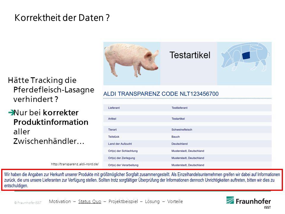 © Fraunhofer ISST Korrektheit der Daten .