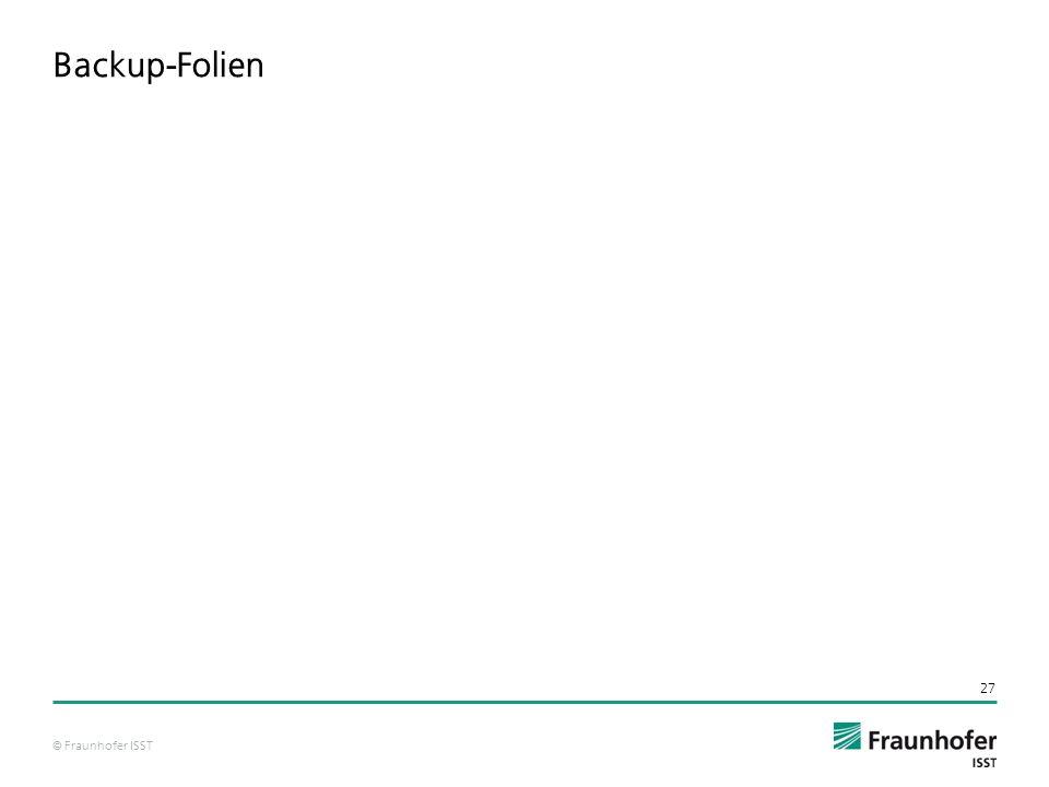 © Fraunhofer ISST Backup-Folien 27