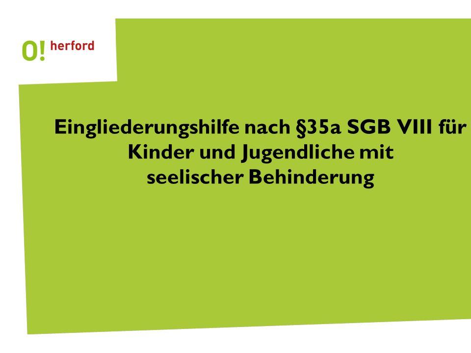 Seite 2 Eingliederungshilfe nach § 35a SGB VIII vorweg Abgrenzung zu HzE Bei der Eingliederungshilfe handelt es sich nicht um eine Hilfe zur Erziehung (HzE), sondern um eine eigenständige Leistung nach dem SGB VIII HzE begründet gem.