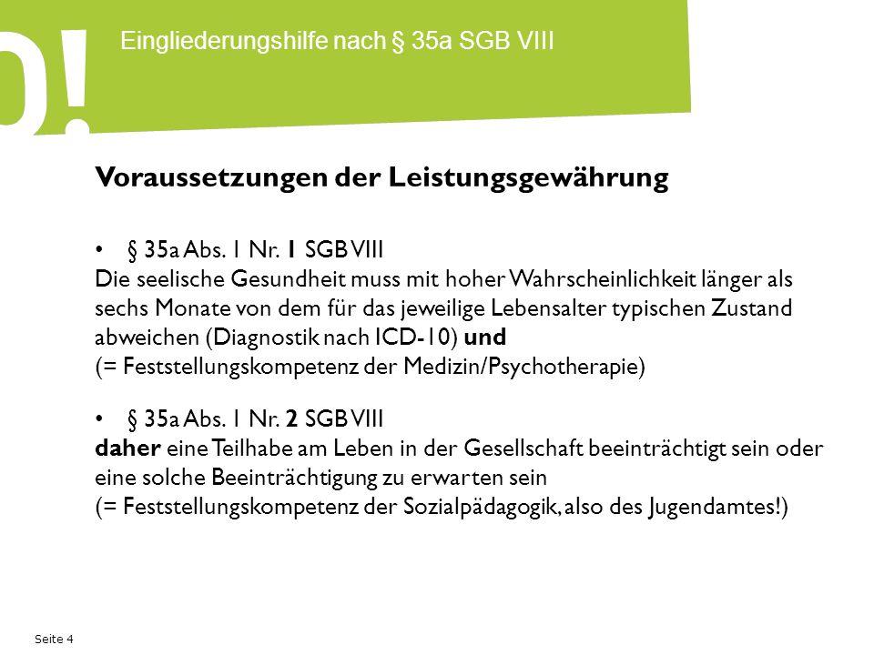 Seite 5 Eingliederungshilfe nach § 35a SGB VIII