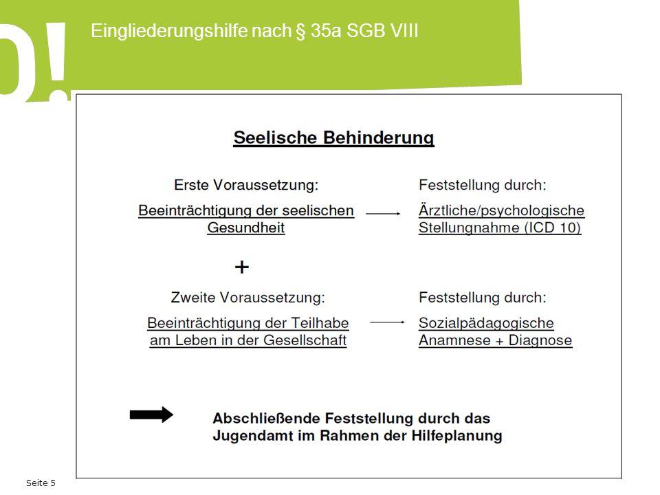 Seite 6 Eingliederungshilfe nach § 35a SGB VIII Welche Lebensbereiche sind für die Teilhabe eines Kindes wichtig.