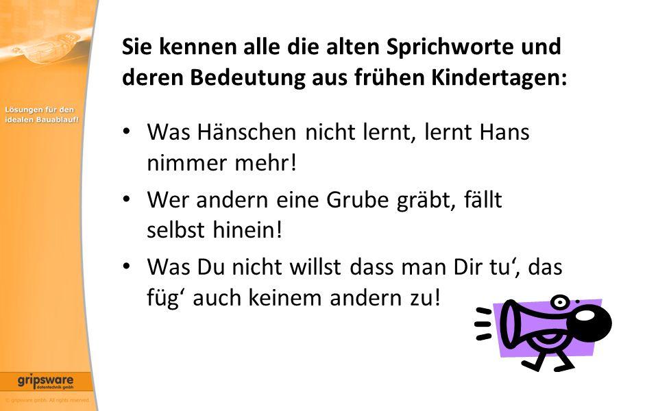 Sie kennen alle die alten Sprichworte und deren Bedeutung aus frühen Kindertagen: Was Hänschen nicht lernt, lernt Hans nimmer mehr.