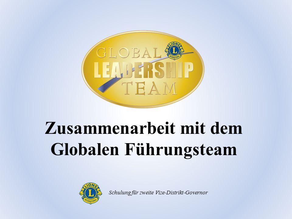 Zusammenarbeit mit dem Globalen Führungsteam Schulung für zweite Vize-Distrikt-Governor