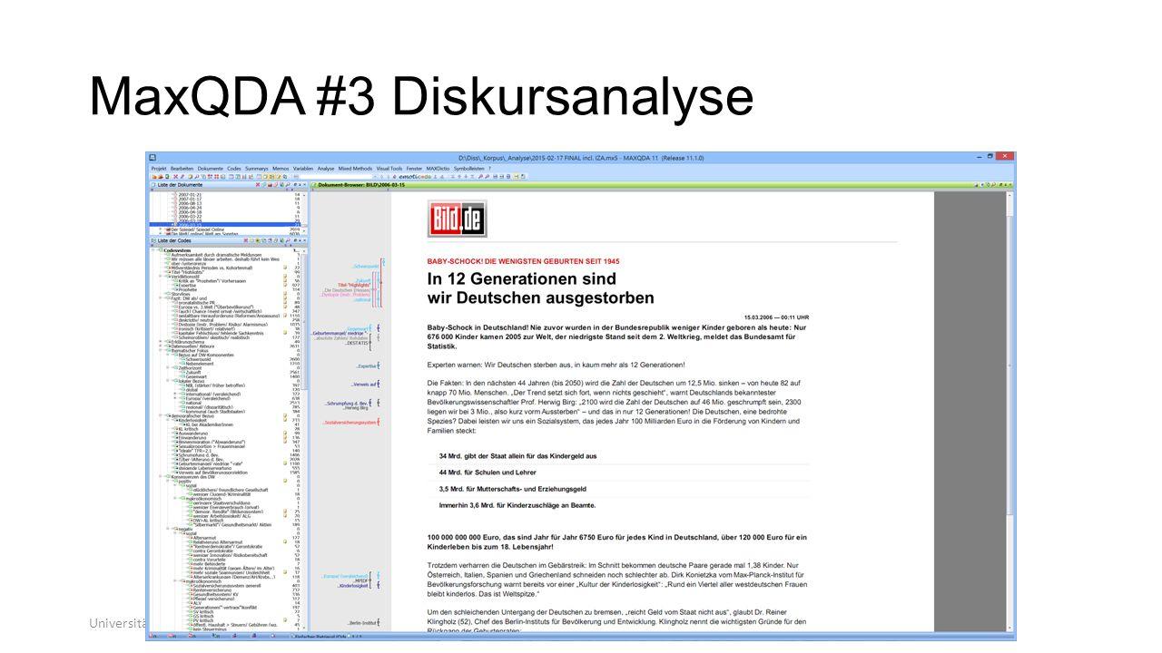 MaxQDA #3 Diskursanalyse Universität zu Köln