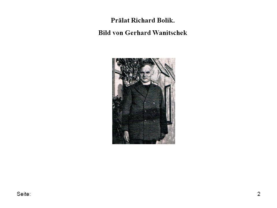 Seite:2 Prälat Richard Bolik. Bild von Gerhard Wanitschek