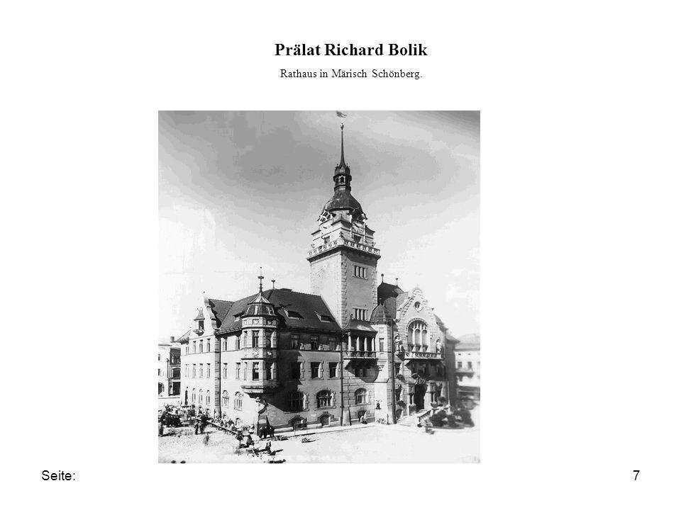 Seite:7 Prälat Richard Bolik Rathaus in Märisch Schönberg.