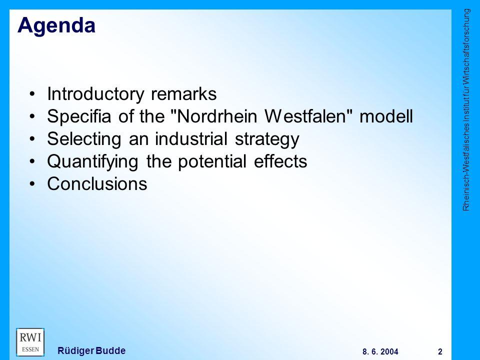 Rheinisch-Westfälisches Institut für Wirtschaftsforschung 13 8.