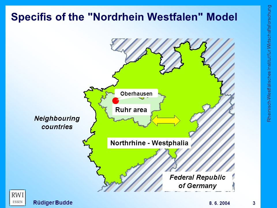 Rheinisch-Westfälisches Institut für Wirtschaftsforschung 3 8.