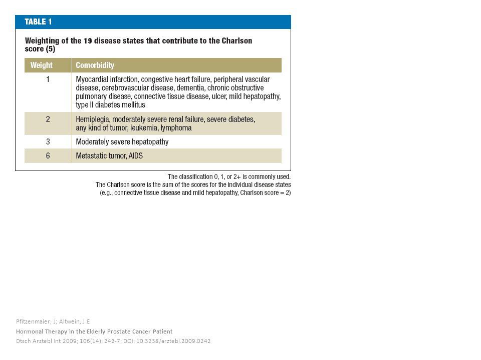 Pfitzenmaier, J; Altwein, J E Hormonal Therapy in the Elderly Prostate Cancer Patient Dtsch Arztebl Int 2009; 106(14): 242-7; DOI: 10.3238/arztebl.2009.0242