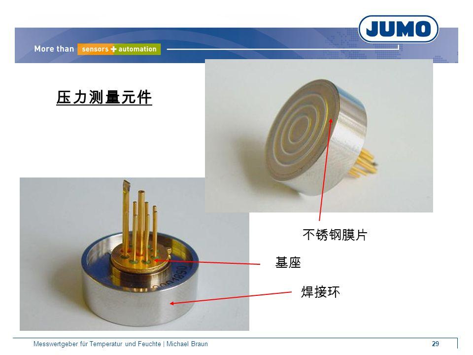 29Messwertgeber für Temperatur und Feuchte | Michael Braun 压力测量元件 不锈钢膜片 焊接环 基座