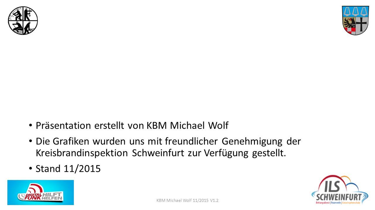 Präsentation erstellt von KBM Michael Wolf Die Grafiken wurden uns mit freundlicher Genehmigung der Kreisbrandinspektion Schweinfurt zur Verfügung ges
