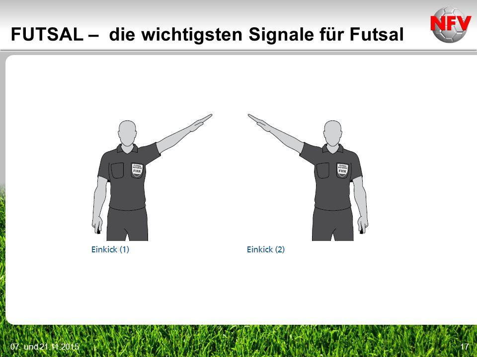 07. und 21.11.201517 FUTSAL – die wichtigsten Signale für Futsal
