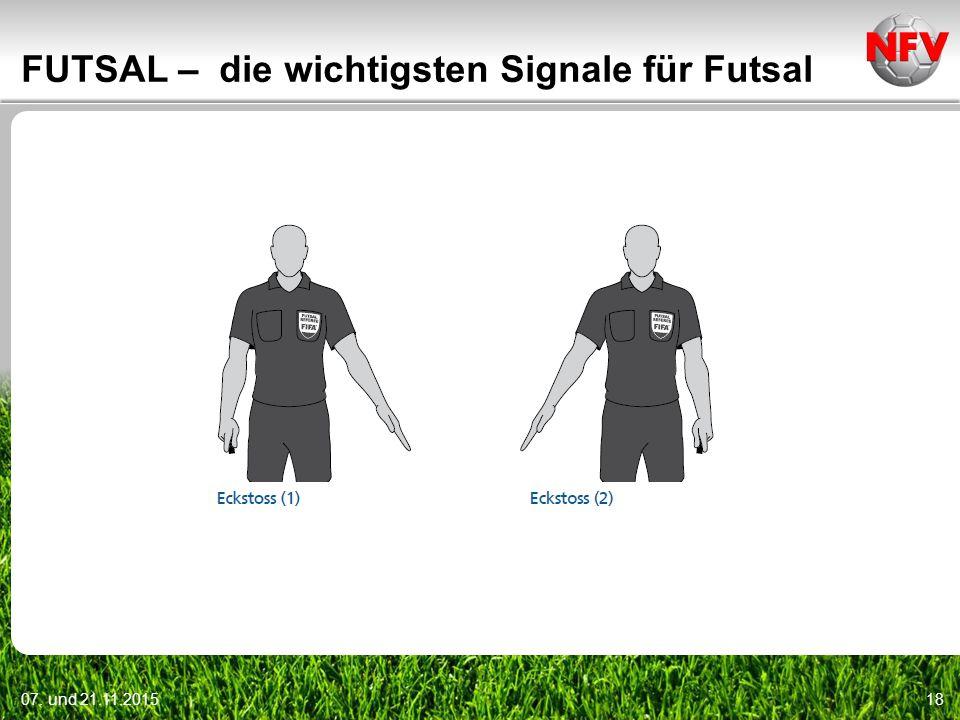 07. und 21.11.201518 FUTSAL – die wichtigsten Signale für Futsal