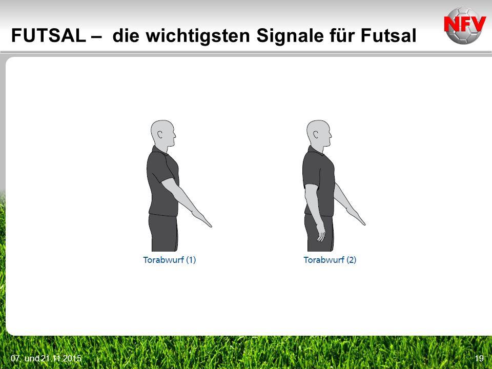 07. und 21.11.201519 FUTSAL – die wichtigsten Signale für Futsal