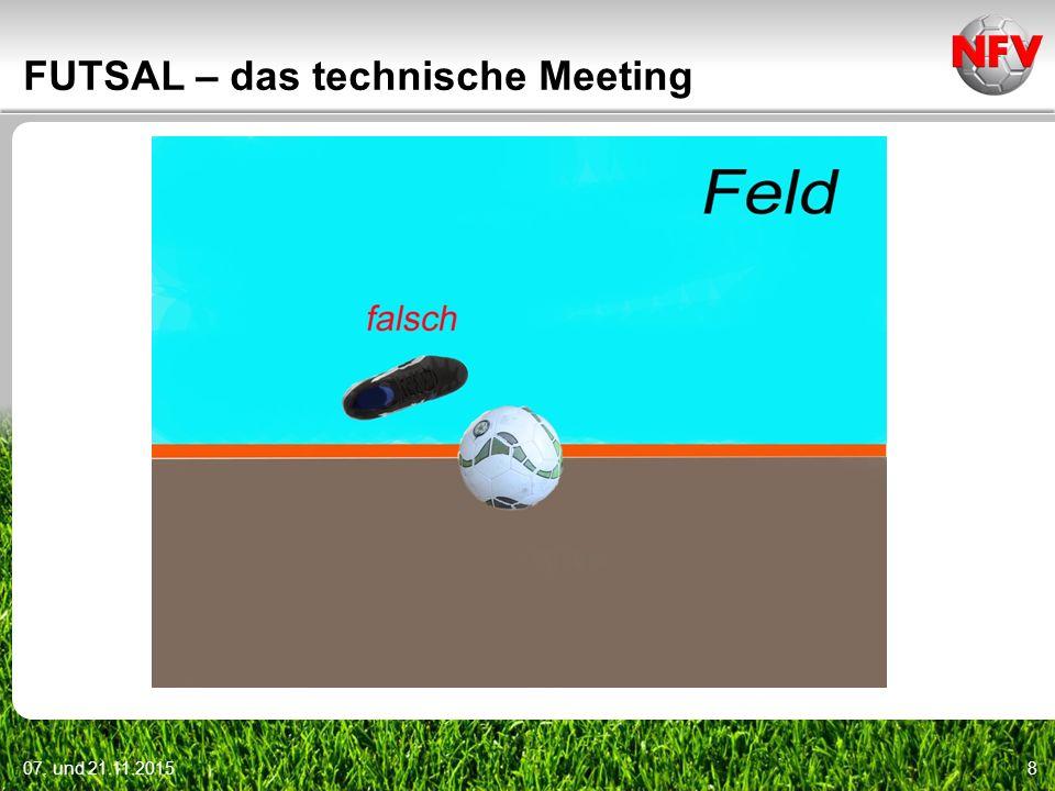07. und 21.11.20158 FUTSAL – das technische Meeting