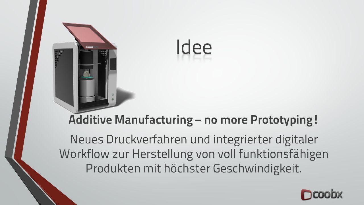 Additive Manufacturing – no more Prototyping! Neues Druckverfahren und integrierter digitaler Workflow zur Herstellung von voll funktionsfähigen Produ