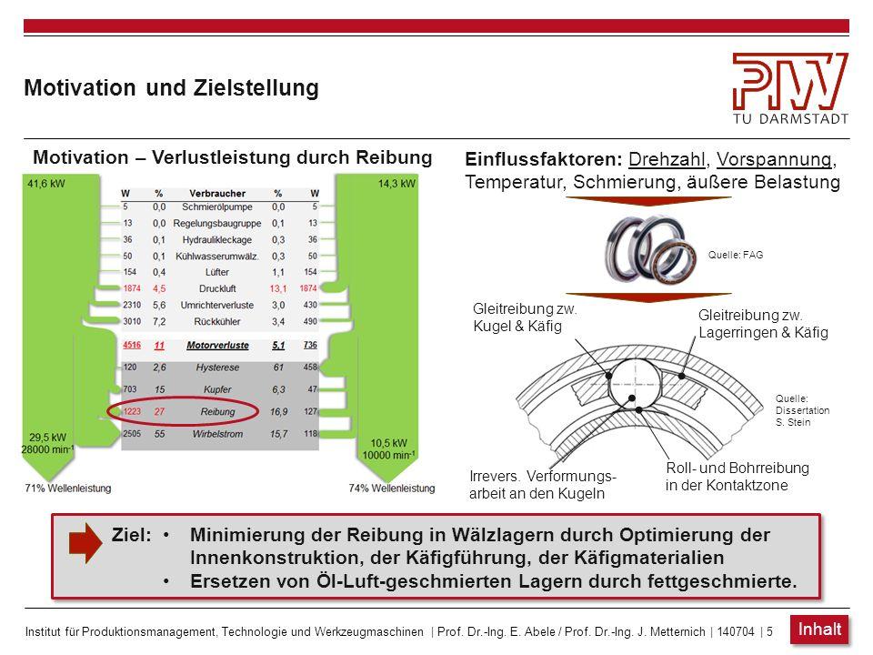 Institut für Produktionsmanagement, Technologie und Werkzeugmaschinen | Prof. Dr.-Ing. E. Abele / Prof. Dr.-Ing. J. Metternich | 140704 | 5 Motivation