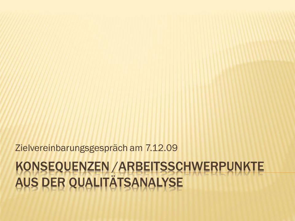 Zielvereinbarungsgespräch am 7.12.09