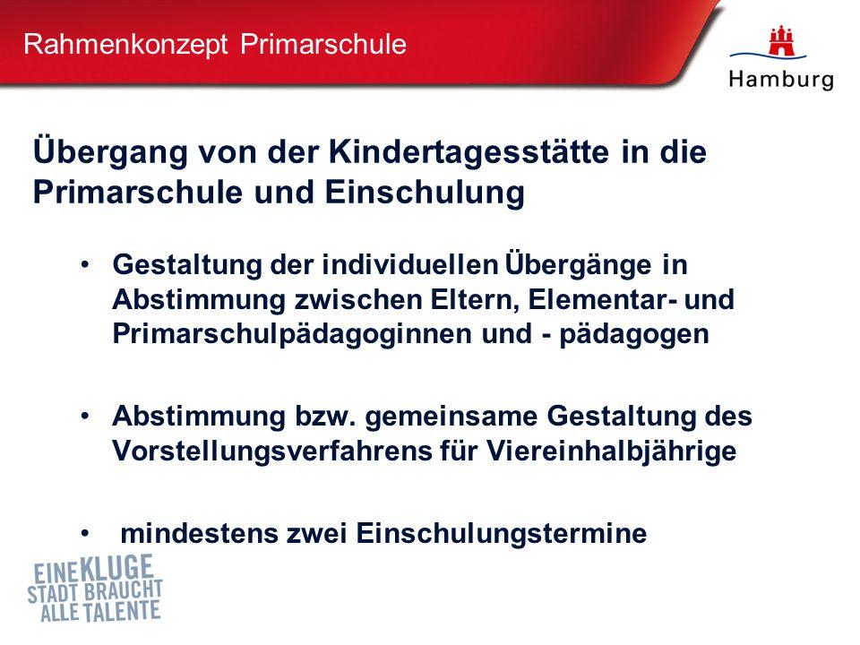 Gestaltung der individuellen Übergänge in Abstimmung zwischen Eltern, Elementar- und Primarschulpädagoginnen und - pädagogen Abstimmung bzw.