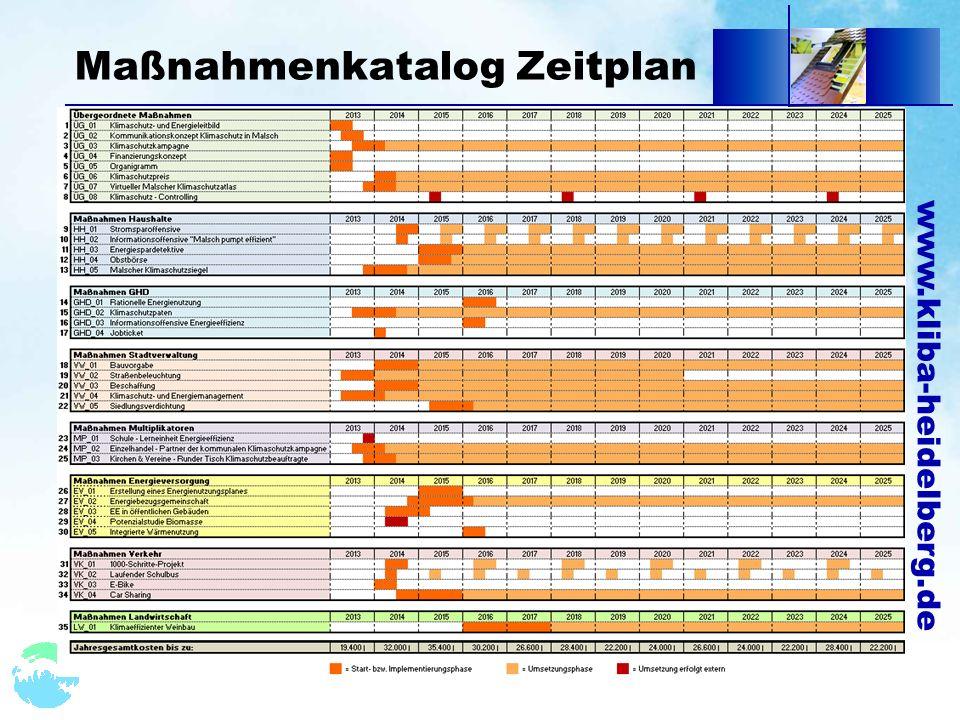 www.kliba-heidelberg.de Maßnahmenkatalog Zeitplan