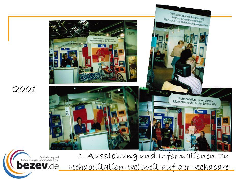1. Ausstellung und Informationen zu Rehabilitation weltweit auf der Rehacare 2001