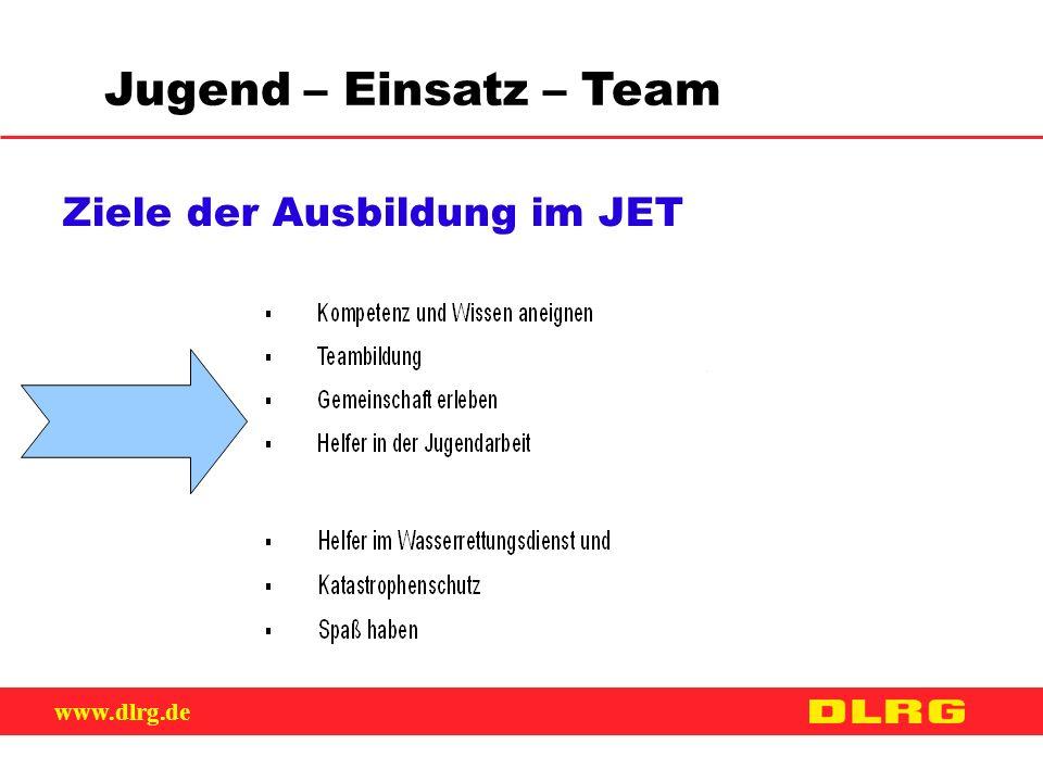 www.dlrg.de Jugend – Einsatz – Team Ziele der Ausbildung im JET