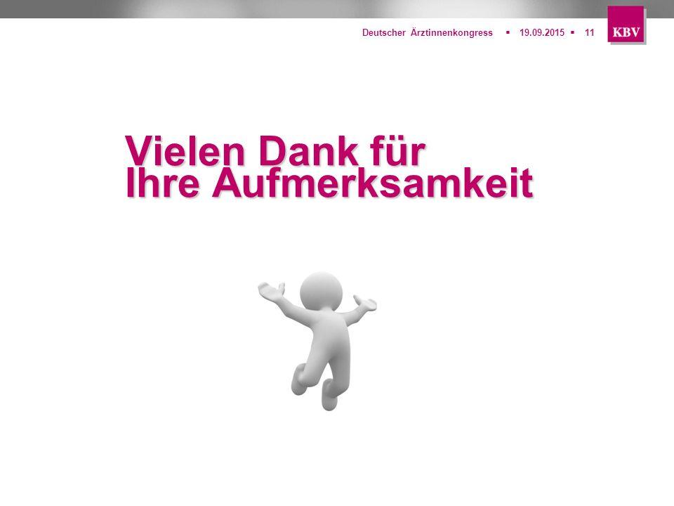  Deutscher Ärztinnenkongress19.09.201511 Vielen Dank für Ihre Aufmerksamkeit
