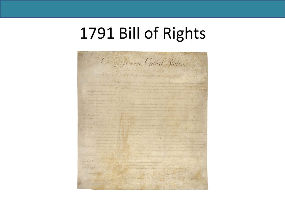 1791 Bill of Rights