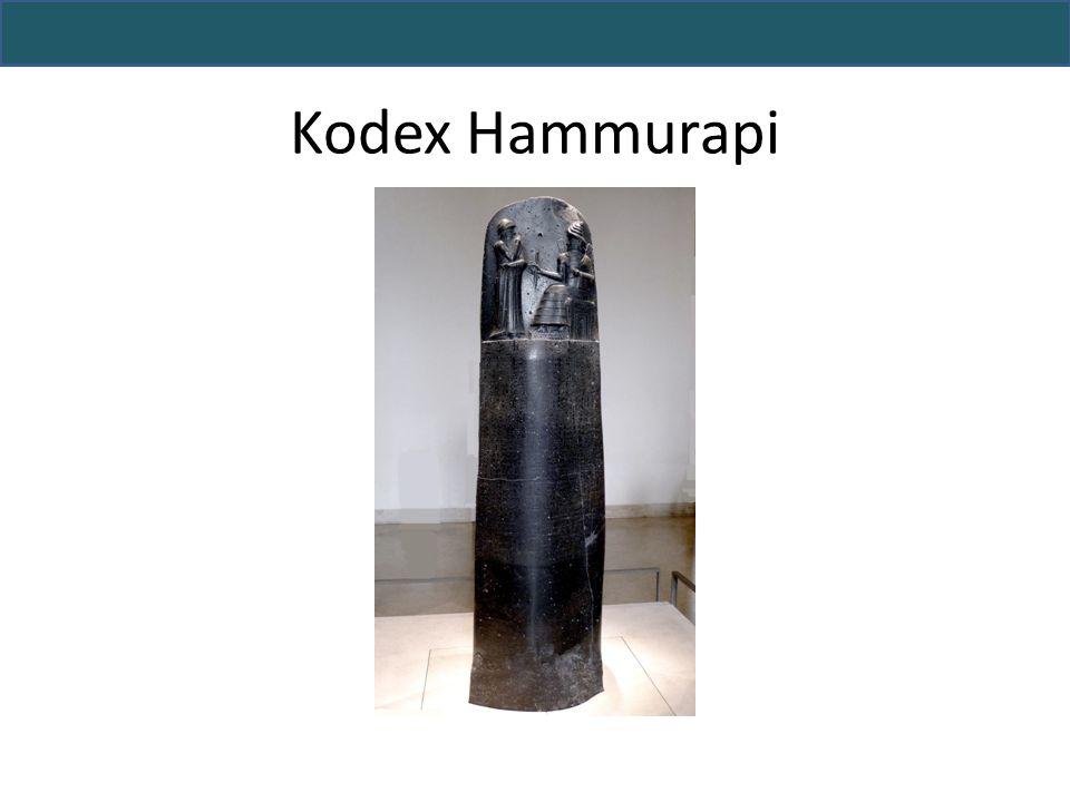 Hammurapi: Herrscher von Babylon (1792- 1750 v.u.Z) – Vormachtstellung in Mesopotamien Entwicklung des Kodex zur Regelung des Zusammenlebens (u.a.