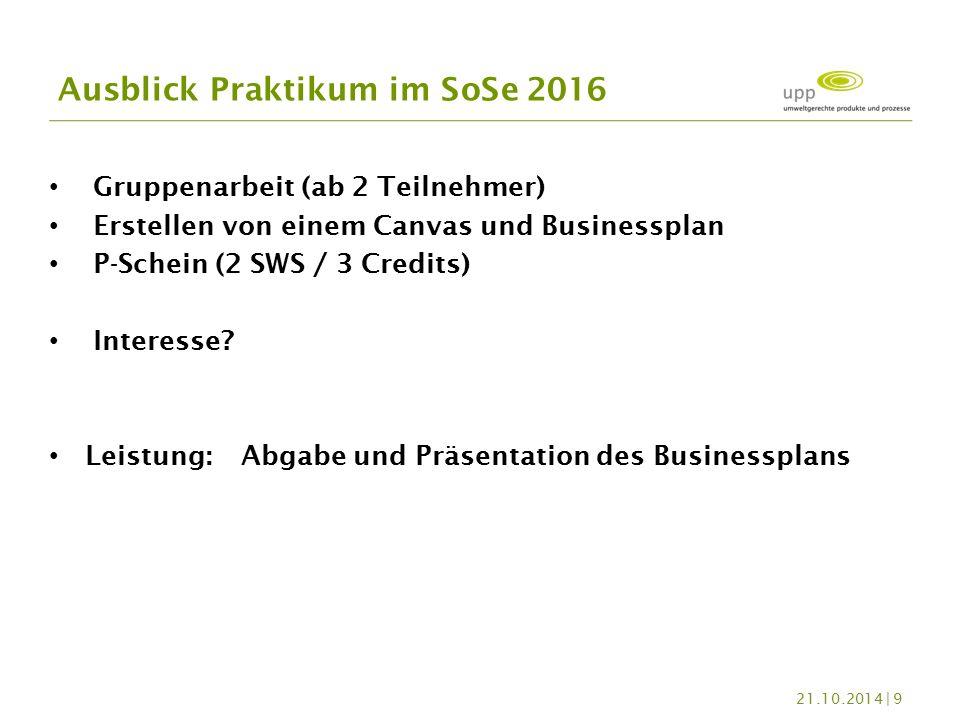 Gruppenarbeit (ab 2 Teilnehmer) Erstellen von einem Canvas und Businessplan P-Schein (2 SWS / 3 Credits) Interesse.