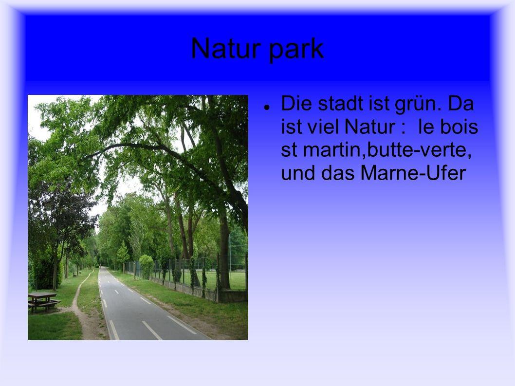 Natur park Die stadt ist grün.
