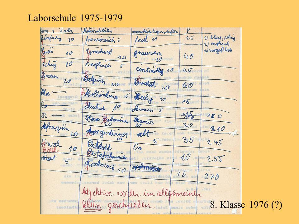8. Klasse 1976 (?)