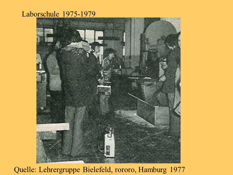Laborschule 1975-1979 Quelle: Lehrergruppe Bielefeld, rororo, Hamburg 1977